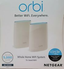 Netgear ORBI AC3000 Tri-Band Wireless Router and Satellite (RBK50-100NAS)
