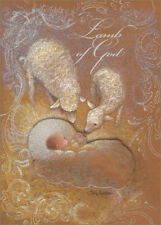 Lamb of God Tip On Infant Box of 12 Handcrafted Religious Christmas Cards