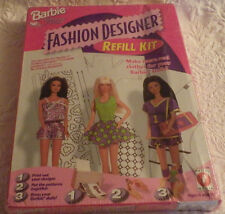 Barbie Fashion Designer Refill Kit Software for Girls NIB 17769 New Make Clothes