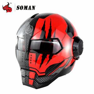Motorcycle Helmet Iron Man Helmet Motorbike Capacetes Casco Retro Casque Moto