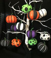 12 HALLOWEEN PUMPKINS TREE BAUBLES DECORATIONS