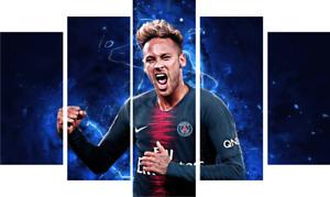Neymar > football > psg > brazil > canvas > 5 piece >print ON FRAMES