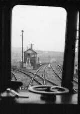 PHOTO  VIEW FROM THE CAB OF A DMU AT RISCA JCT IN APRIL 1962