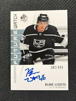 2019-20 SP AUTHENTIC BLAKE LIZOTTE ROOKIE FUTURE WATCH AUTO #ed 102/999