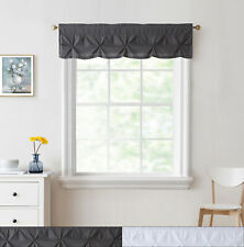"Hudson Pintuck Window Curtain Valance 12""x60"