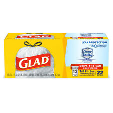 Glad  13 gal. Tall Kitchen Bags  Drawstring  22 pk