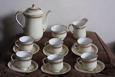 vintage Aynsley bone china coffee set cups, milk jug, sugar bowl