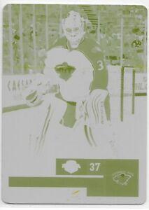 11-12 Panini Contenders Yellow Press Plate Josh Harding 1/1 #100 Wild one of one