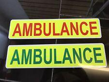 Magnetic Sign AMBULANCE set Red green Yellow Medic vehicle emergency response