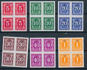 [P5609] Uganda 1979 good set in bloc of 4 duestamps very fine MNH