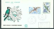 French Antarctic 1976 Sea Birds sg.99 and 102 FDC