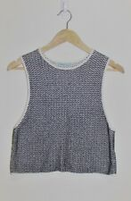 KOOKAI Black & White Sleeveless Knit Top Size 2 Medium M