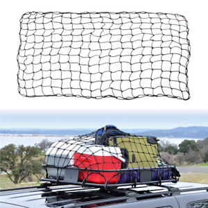 Pickup Truck Top Rack Cover Case Cargo Roof Basket Luggage Net Elastic Mesh