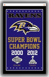 Baltimore Ravens Football Team Champion Memorabl Flag 90x150cm3x5ft Super banner
