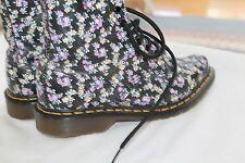 Dr. Martens Lottie 8 Eye Boot 1460 Floral Print Leather 8 eye Boots SZ 6 UK 4