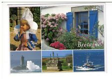 Postcard: Multiview - Traditions and Patrimony, Brittany, France