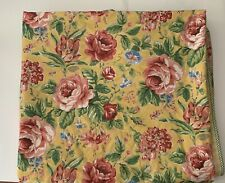 Vintage Laura Ashley Floral Duvet Cover Check Back Cottage USA King Yellow Pink