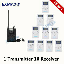Exmax Fm Wireless Simultaneous Interpretation System 60-108Mhz For Training 1T10