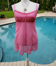 Victoria's Secret Womens Pink Teddy, Lingerie Nighty L h2