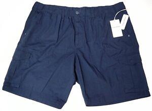 NEW $99 Tommy Bahama Ripstop Bahama Survivalist Navy Blue Cargo Shorts Stretch