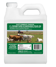 Permethrin Synergized Pour On 1 Gl For Lice & Flies on Beef Cattle Keds on Sheep