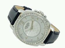 COACH Womens Mini Boyfriend Black Leather Watch 34MM style 14503152