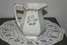 """Hand-Painted. Flowers & Leaves Pitcher. """"Brendan""""."""