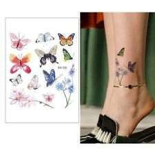 Temporary Colourful Butterfly Tattoo Sticker Water Transfer *UK SELLER* /-m534-/