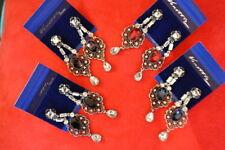 Unbranded Crystal Butterfly Chandelier Costume Earrings