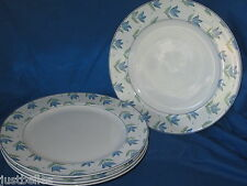 New listing Christopher Stuart Calico Y2228 Dinner Plate (s) *have multiples* blue tulips