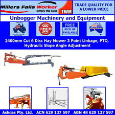 Millers Falls 3 Point Linkage PTO 6 Disc 2400mm Cut Disc Hay Mower