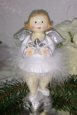 Angelo di Natale Stelle Erika Figura Decorazione Squallido 18cm