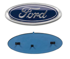"""2004-2016 Ford 9"""" x 3.5"""" BLUE OVAL CHROME LOGO Emblem Fits: Grille & Tailgate"""