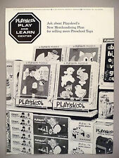 Playskool Play and Learn Center PRINT AD - 1968 ~ puzzles, work bench toys