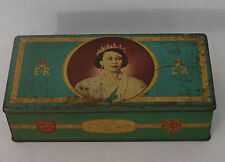 Vintage Queen Elizabeth II 1953 Coronation Biscuit Tin (B1)