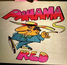 VINTAGE 1970's ORIGINAL PANAMA RED IRON-ON T-SHIRT TRANSFER NEW OLD STOCK!!