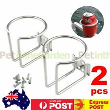 2x Stainless Steel Boat Ring Cup Drink Holder For Boat Marine Yacht Truck Camper