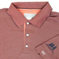 """Cutter & Buck Heritage Ranch Men Large 46"""" Golf Polo Shirt Salmon DryTec Luxe"""