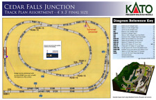 Kato 202011 N Scale Cedar Falls Junction. Single Track 4'x3' compact layout.