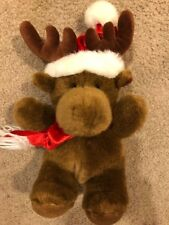 "Kids of America Plush Stuffed 14"" Moose Bear with Scarf & Hat"