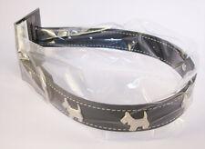 Collier Noir pour chien avec motifs: 4 Chiens - Tour de cou  29 - 39 cm