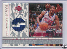 2002-03 UD GLASS SUPERLATIVE SWATCH ANDRE MILLER JERSEY