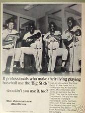 1970 Mays~McCovey Giants~Santo Cubs~Mets Baseball Bat Adirondack Big Stick AD