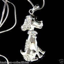 w Swarovski Crystal Hound Beagle Wirehaired Vizsla Dog Pendant Necklace NEW Xmas