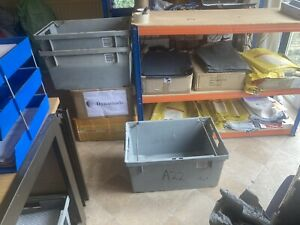 Large plastic  Stackable Storage Boxes 60 X 40 X 30cm