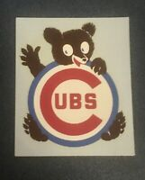 VINTAGE 1970's CHICAGO CUBS  DECAL - STICKER  ORIGINAL Excellent Condition