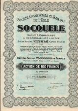 SOCOUELE CONGO BELGE