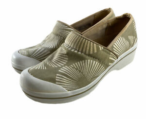 Dansko Volley Frond Canvas Chino palm  Clogs  Shoes Women's Size Eu 39 Us 8-8.5