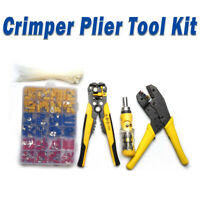 Ratchet Crimper Plier Crimping Tool for Cable Wire + Electrical Terminals
