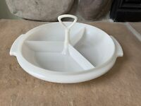 Vintage Tupperware Relish Tray 3 Compartment Picnic Excellent 608-11 USA